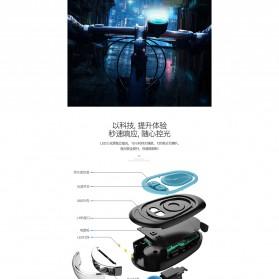 ANLOOK Lampu Sepeda LED XPE Q5 dengan Klakson 120dB - CD-08 - Black - 3