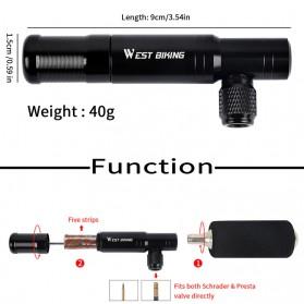 West Biking 2 in 1 Peralatan Tambal Ban Sepeda Motor Tubeless + Adaptor Pompa Angin Tire Pump - YP0711083 - Black - 4