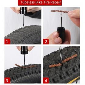 West Biking 2 in 1 Peralatan Tambal Ban Sepeda Motor Tubeless + Adaptor Pompa Angin Tire Pump - YP0711083 - Black - 10