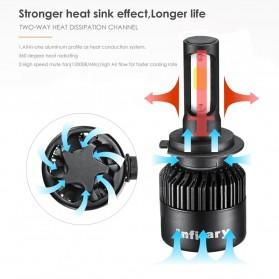 INFITARY Lampu Mobil Headlight LED H4/HB2/9003 COB 2 PCS - Black - 2
