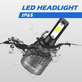 INFITARY Lampu Mobil Headlight LED H4/HB2/9003 COB 2 PCS - Black - 4