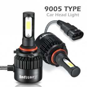 INFITARY Lampu Mobil Headlight LED 9005/HB3/H10 COB 2 PCS - Black