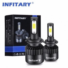 INFITARY Lampu Mobil Headlight LED 9005/HB3/H10 COB 2 PCS - Black - 7