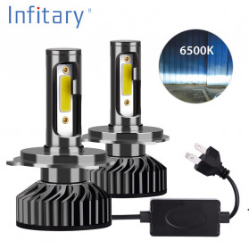 Hobi - INFITARY Lampu Mobil Headlight Car Fog Bulb LED COB H7 72W 8000LM - Black