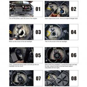 INFITARY Lampu Mobil Headlight Car Fog Bulb LED COB H7 72W 8000LM - Black - 12