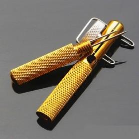 JINGPINTUOGOUQI Fishing Hook Tool Double Headed Needle Knots - B-01 - Golden