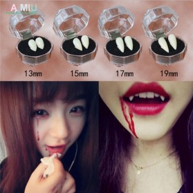 Mainan Gigi Taring Vampire Drakula Cosplay Teeth 13mm - C0160 - White - 3