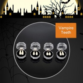 Mainan Gigi Taring Vampire Drakula Cosplay Teeth 13mm - C0160 - White - 4