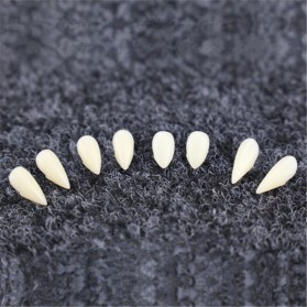 Mainan Gigi Taring Vampire Drakula Cosplay Teeth 13mm - C0160 - White - 5