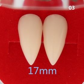 Mainan Gigi Taring Vampire Drakula Cosplay Teeth 17mm - C0160 - White