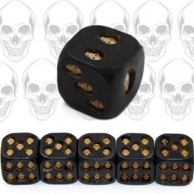 Dadu Unik Tengkorak Black Skull Dice 5 PCS - Black