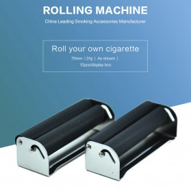 HONEYPUFF Alat Penggulung Linting Rokok Manual Tobacco Roller Machine 70mm - TN900 - Black