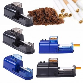 Alat Penggulung Rokok Electric Cigarette Injector Tobacco Roller Machine - A19 - Black - 1
