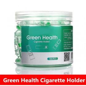 J&Moer Filter Rokok Disposable Tobacco Tip Tar Filtration 100 PCS - CG-30 - Transparent