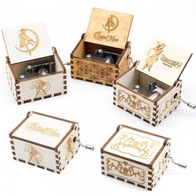 Kotak Musik Antik Wooden Music Box - Zelda Engraving - Wooden - 3
