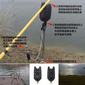 Alarm Pancing LED Flash Electronic for JY-1 Fishing Alarm - JY-SW-5 - Black - 2