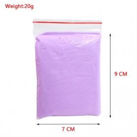 GISIGN Mainan Slime Fluffy Foam Clay Ball Supplies DIY - 328-0803 - Purple - 8