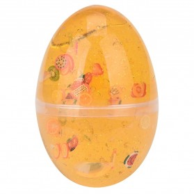 Mainan Slime Model Telur Colorful Egg Stress Relief Toy - 0627 - Yellow - 1