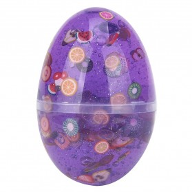 Mainan Slime Model Telur Colorful Egg Stress Relief Toy - 0627 - Purple