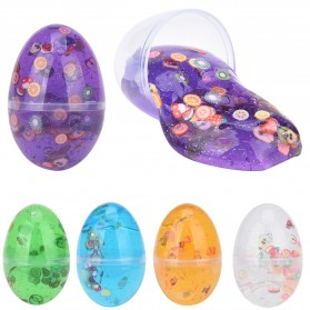 Mainan Slime Model Telur Colorful Egg Stress Relief Toy - 0627 - Green - 4