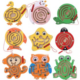 Mainan 3D Ball Magnetic Maze Toy Wooden Puzzle Game Model Ikan - 89811 - 3