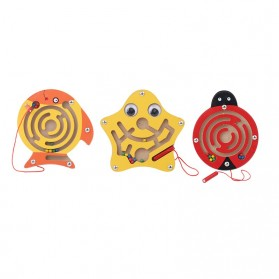 Mainan 3D Ball Magnetic Maze Toy Wooden Puzzle Game Model Ikan - 89811 - 4