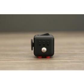 Mainan Pelepas Stress Fidget Hand Cube Big Size - Black/Red - 8