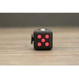 Mainan Pelepas Stress Fidget Hand Cube Big Size - Black/Red - 9
