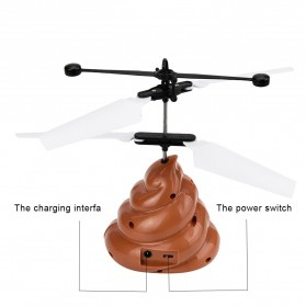 Flight Mainan Flying Ball Induction Launcher Model Poop - WDS-RCT025 - Brown - 5