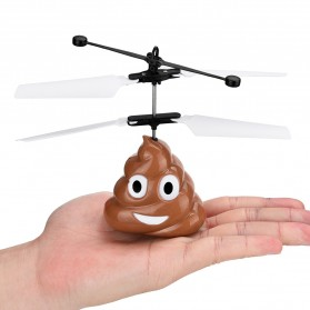 Flight Mainan Flying Ball Induction Launcher Model Poop - WDS-RCT025 - Brown - 6
