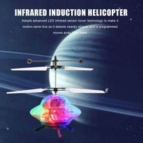 BERYOU Mainan Flying Ball Induction Launcher Model Hovering UFO - 188A - White - 4