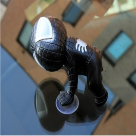 JWDAWN Miniatur Action Figure Kaca Mobil Window Sucker Model Spiderman - 001 - Black