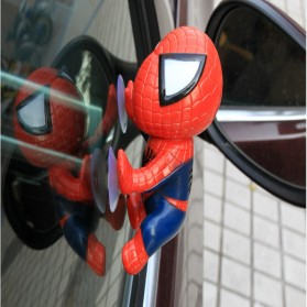JWDAWN Miniatur Action Figure Kaca Mobil Window Sucker Model Spiderman - 001 - Red