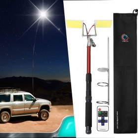 Smuxi Joran Pancing Telescopic Fishing Rod Lantern COB LED Light 3.75M - CL-LB-M9x2