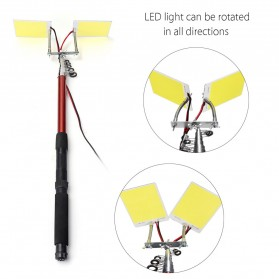 Smuxi Joran Pancing Telescopic Fishing Rod Lantern COB LED Light 3.75M - CL-LB-M9x2 - 5