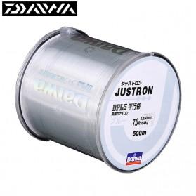 Senar Pancing - DAIWA JUSTRON Senar Tali Benang Pancing Nylon Series Braided Thick Line 0.8 500 Meter - DPLS - Transparent
