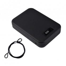 OPSON Brankas Mini Mobil Key Safes Portable Car Safesbox Gun Jewelry - OS300C - Black - 2