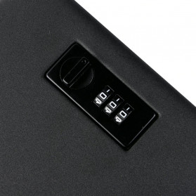OPSON Brankas Mini Mobil Key Safes Portable Car Safesbox Gun Jewelry - OS300C - Black - 6