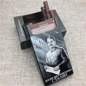 Laifu Kotak Rokok Fashion Aluminium Cigarette Case Joseph Vissarionovich Stalin - LF058 - Black