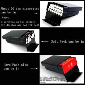 Laifu Kotak Rokok Fashion Aluminium Cigarette Case Joseph Vissarionovich Stalin - LF058 - Black - 2