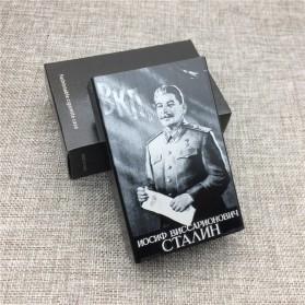Laifu Kotak Rokok Fashion Aluminium Cigarette Case Joseph Vissarionovich Stalin - LF058 - Black - 3