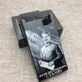 Laifu Kotak Rokok Fashion Aluminium Cigarette Case Joseph Vissarionovich Stalin - LF058 - Black - 4