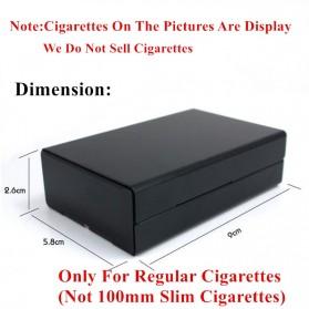 Laifu Kotak Rokok Fashion Aluminium Cigarette Case Joseph Vissarionovich Stalin - LF058 - Black - 5