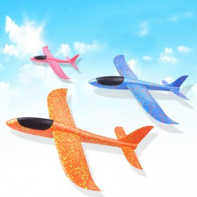 GOROCK Mainan Pesawat DIY Hand Throw Foam Aeroplane Flying Glider Planes - TY0310 - Mix Color