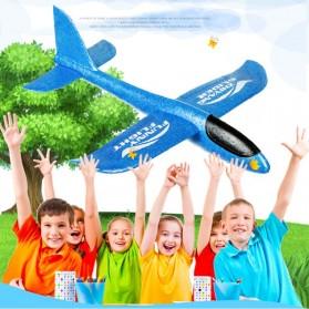 GOROCK Mainan Pesawat DIY Hand Throw Foam Aeroplane Flying Glider Planes - TY0310 - Mix Color - 2