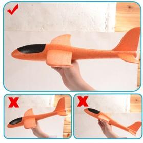 GOROCK Mainan Pesawat DIY Hand Throw Foam Aeroplane Flying Glider Planes - TY0310 - Mix Color - 7