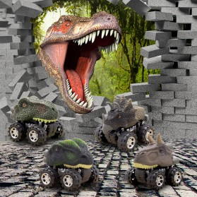 Mainan Kendaraan - ISHOWTIENDA Mainan Mobil-Mobilan Model Dinosaurus Diecast Anak 4 PCS -RT013 - Mix Color