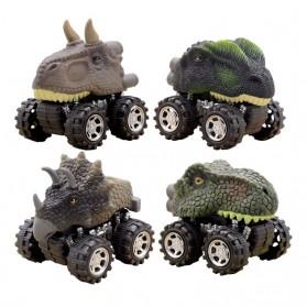 ISHOWTIENDA Mainan Mobil-Mobilan Model Dinosaurus Diecast Anak 4 PCS -RT013 - Mix Color - 2