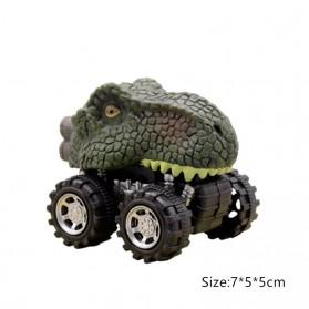 ISHOWTIENDA Mainan Mobil-Mobilan Model Dinosaurus Diecast Anak 4 PCS -RT013 - Mix Color - 3