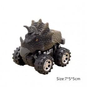 ISHOWTIENDA Mainan Mobil-Mobilan Model Dinosaurus Diecast Anak 4 PCS -RT013 - Mix Color - 5